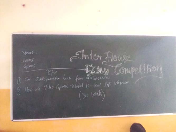 Inter House Essay Competition (4)